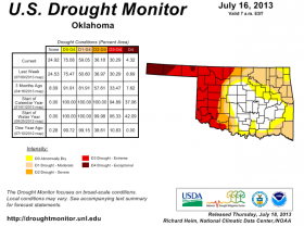 Drought monitor map from July 16.