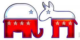 GOP Elephant and Democratic Donkey