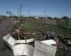 Debris still litters parts of Oklahoma, almost two months after tornadoes hit the state.