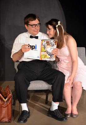 "A'Mari Jo Rocheleau stars as Dotty in Carpenter Square Theatre's production of ""Out of Sterno."""