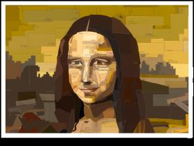 Paint swatch Mona Lisa painting