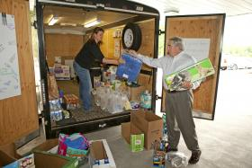 Loading supplies for disaster relief - May 23, 2013