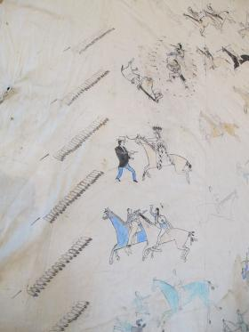 Images on Kiowa Tipi