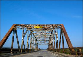 Highway 51 bridge between Wagoner and Coweta, Okla. taken in 2009. After years of serving it's purpose, it is being replaced by a more standardized and safer deck.