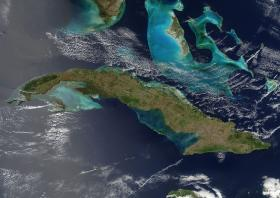 The waters of Cuba and Florida