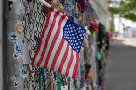 Mementos Left At Site Of Oklahoma City Bombing