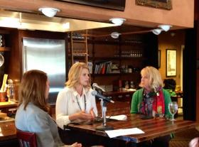 Kristy Yager, Erin Engelke and Cynthia Reid discuss lessons they learned from the May tornadoes at a panel discussion held by the Oklahoma City chapter of the Association of Women in Communication.
