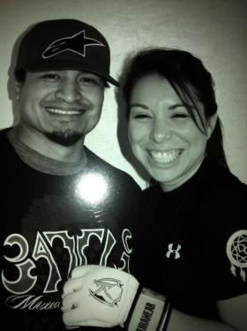 With husband Scott Lowe