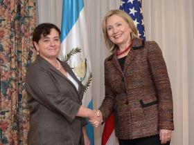 U.S. Secretary of State Hillary Clinton meets Guatemala Attorney General Claudia Paz y Paz - June 22, 2011.