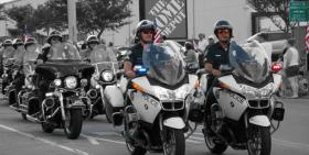 Midwest City Police Dept. motorcycle patrol.