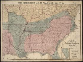 Lloyd's new military map of the border & southern states from 1864.