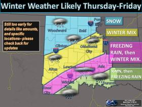 Winter weather will be making a return to Oklahoma this week.