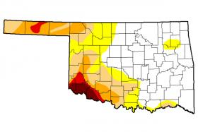 The latest update of drought conditions in Oklahoma.