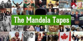 This image features the title of the program surrounded by various pictures of Mandela taken throughout his life.