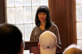 Laleh Khadivi reading from her work during the 2013 Neustadt Festival - October 30, 2013.