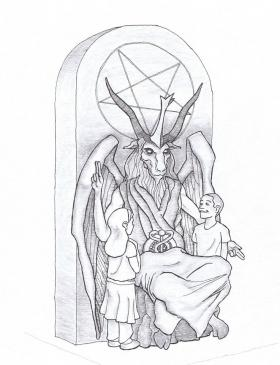 Monday the New York-based Satanic Temple unveiled their design for a proposed monument on the grounds of the Oklahoma State Capitol.
