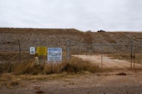 The Lone Mountain landfill near Waynoka, Okla.