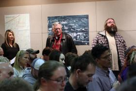 Bristow residents packed the public library during a January 2014 town-hall meeting, where officials from the Oklahoma Department of Environmental Quality and U.S. Environmental Protection Agency explained the Superfund cleanup process and answered questi