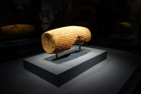 The Cyrus Cylinder maintains a record of Cyrus the Great's religious and political tolerance.