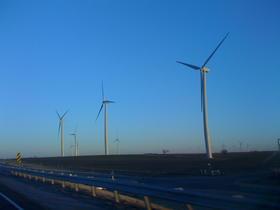 Windmills near Weatherford, Okla.