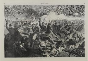 """""""A War for the Union 1862-A Cavalry Charge"""" engraving by Winslow Homer"""