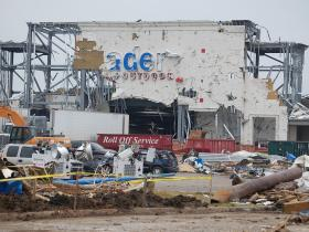 A big-box sporting goods store in Joplin, Missouri after the May 22, 2011 EF5 tornado.
