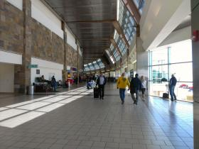 A concourse at Will Rogers World Airport in Oklahoma City.