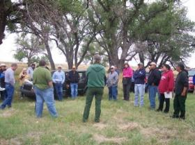 The Sand Creek Massacre NHS continues to consult with a number of partners concerning the natural and cultural resources at the site. Here, park rangers meet with area landowners, tribal members, the Natural Resource Conservation Service, the Colorado Sta