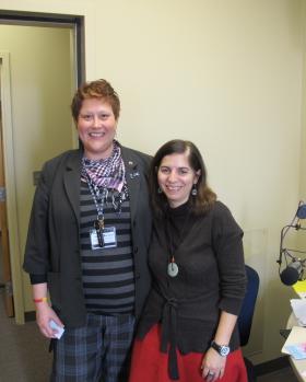 Cara Thomas (left) and Dr. Eleni Tolma