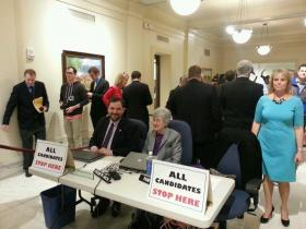 Candidates file for office Wednesday at the state Capitol