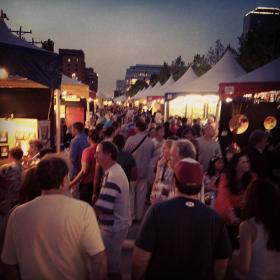 A busy spring evening at 2013's Oklahoma City Festival of the Arts.