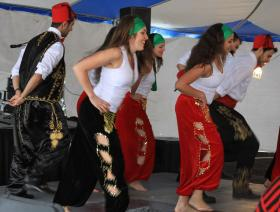 OU's Lebanese Student Association dancing at the 2013 Lebanese Heritage and Food Festival.