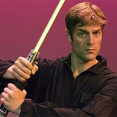 One-Man Star Wars Trilogy screenwriter and performer Charles Ross prepares for battle against himself.
