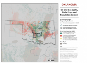 The environmental groups' petition points to risks from oil and gas development in populated areas, such as Oklahoma City, Tulsa and Lawton metropolitan areas.