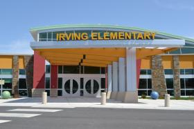 Irving Elementary School in Joplin, Mo. is one of several public school buildings damaged or destroyed by a 2011 tornado. Since the storm hit on Sunday, no one was inside the buildings.
