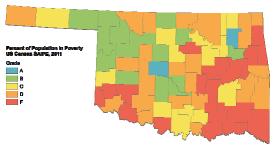 Poverty rates in Oklahoma.