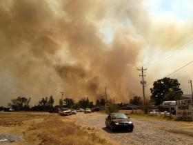 Creek County, Oklahoma, wildfires.