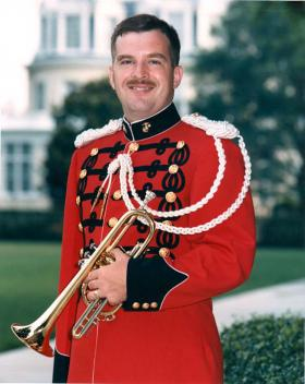 """The story of UCO professor of music Jim Klages' battle with MS, """"Healed: Music, Medicine and Life with MS,"""" will broadcast at 9 p.m. July 8 on OETA. Pictured here in 1986 during his time in """"The President's Own"""" United States Marine Band, Klages' USMC career was cut short after his 1989 diagnosis with MS, but chiropractic care has restored his ability to play the instruments he loves."""