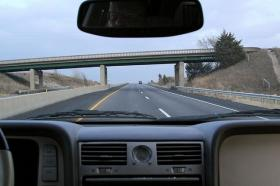 Driving north on I35.