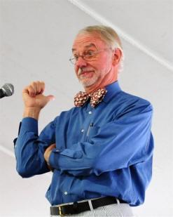Professional storyteller Donald Davis in the midst of a performance.