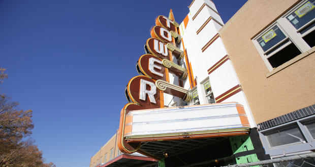 The Tower Theatre on NW 23rd Street in Oklahoma City. (CREDIT BRENT FUCHS / THE JOURNAL RECORD)