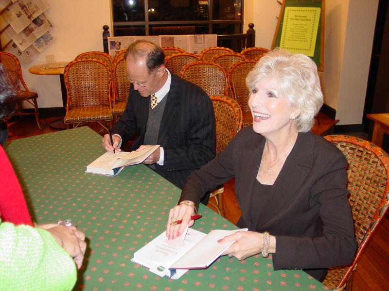 Diane Rehm and husband John came to OKC when her first book came out.