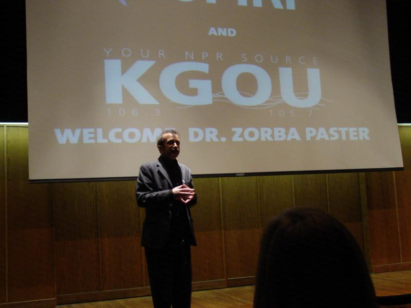 Zorba Paster came to OKC as a guest of the Oklahome Medical Research Foundation.