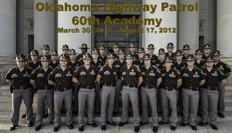 Graduates of the 60th Oklahoma Highway Patrol trooper academy.