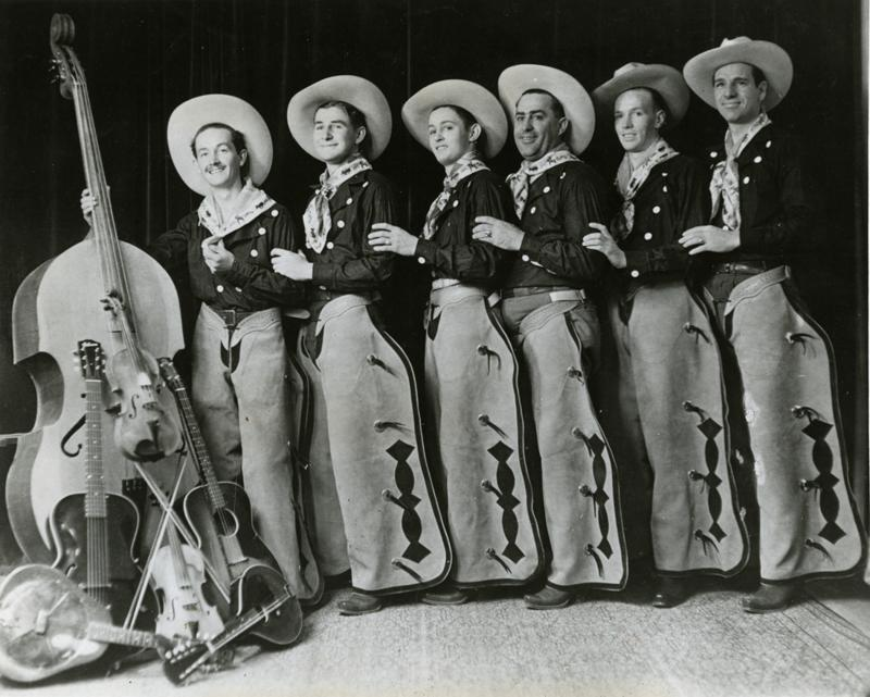 Woody Guthrie and the Pampa Junior Chamber of Commerce band. Pampa, Texas, 1936.