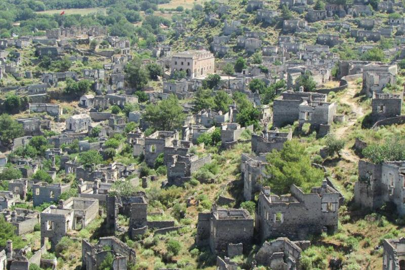 Kayakoy, the Greek Ghost town near Izmir. It was emptied out in 1923 with the massive population transfer that ended the long process of ethnic cleansing in Anatolia, Greece, and much of the Balkans.