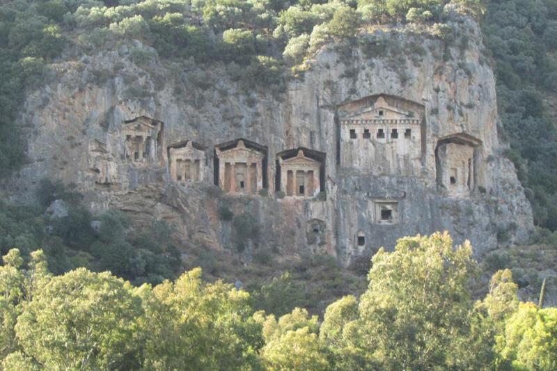 Kaunos Rock Tombs in Dalyan