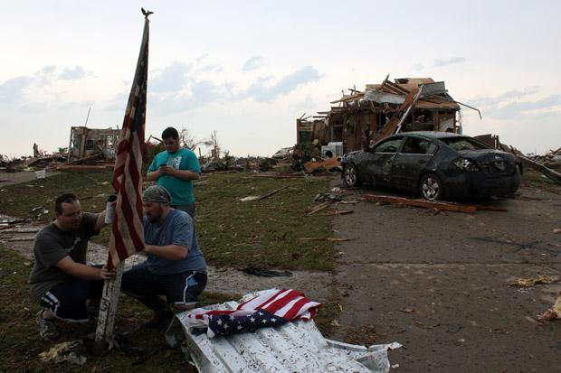 The aftermath of the May 2013 tornado in Moore, Okla.