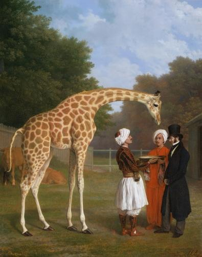 The Nubian Giraffe, Oil on canvas, 1827