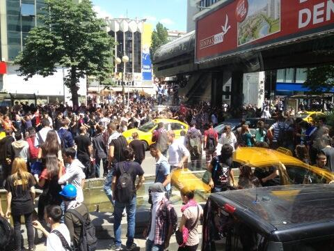 Protesters gather in Ankara, Turkey on Monday, June 3 2013